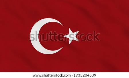 Crumpled Fabric Flag of Turkey Intro. Turkey Flag, Turkey Banner, Europe Flags. Celebration. Flag Day. Patriots. Realistic Animation 4K. Surface Texture. Background Fabric.
