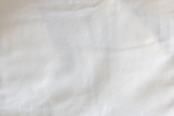 Crumpled fabric texture, white table cloth , white canvas