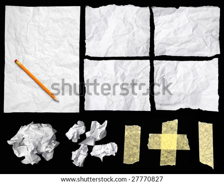 Crumpled notepaper