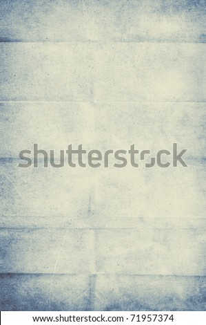 crumpled pale blue vintage paper background