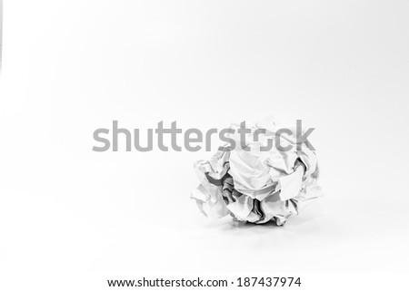 Crumpled paper ball #187437974