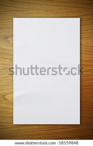 crumpled paper on the wood pattern