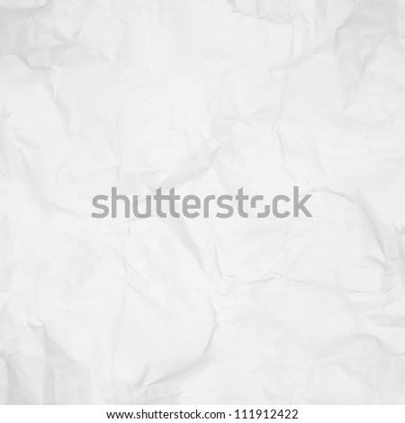 crumpled paper texture, white paper background