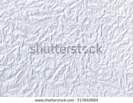 Crumpled paper. White paper background