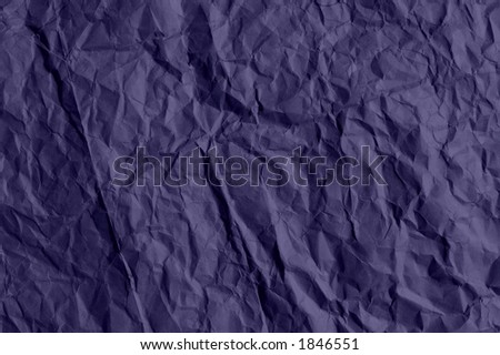 Crumpled purple paper - stock photo