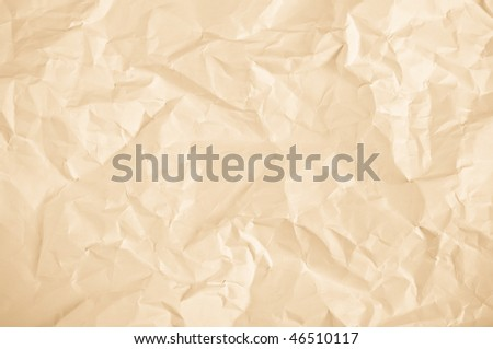 crumpled sheet of yellow paper background with rich detail
