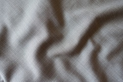 Crumpled simple grey fabric with dupplins checks