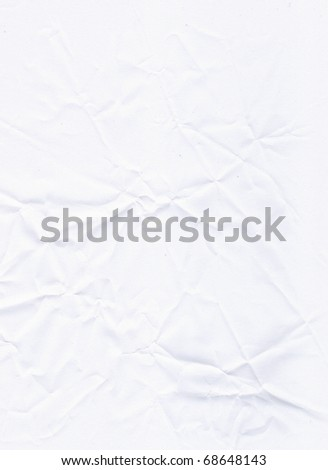 Crumpled white empty paper background (high-detailed texture)