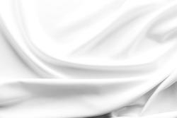 crumpled white fabric texture background