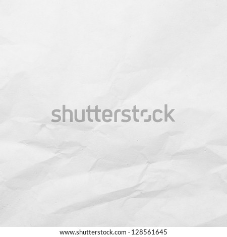 Crumpled white paper background (monochrome)
