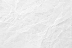 Crumpled white paper background texture