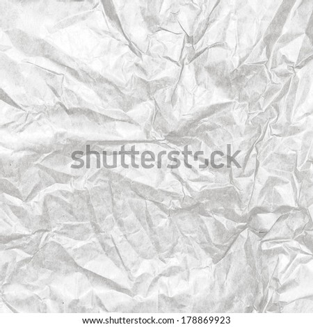 Crumpled white paper background texture. Vintage craft paper texture white grey color. Background of kraft package Paper.