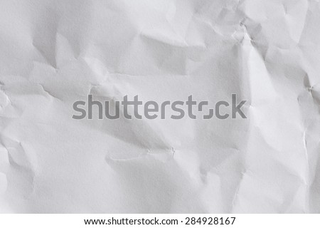 Crumpled White Paper Background/ White Paper Sheet