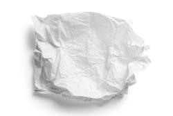 Crumpled white paper napkin - unused