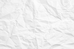 Crumpled white paper sheet texture