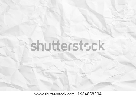 Crumpled white paper sheet texture