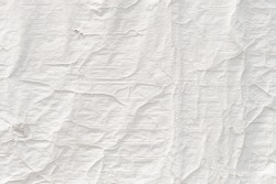 Crumpled white textile surface