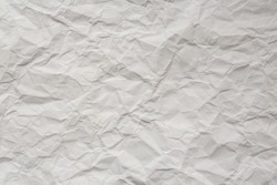 crumpled white wrapping paper, texture