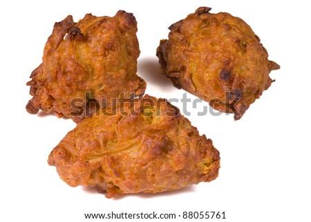 Crunchy fried onion bahjis, crunchy Indian snack
