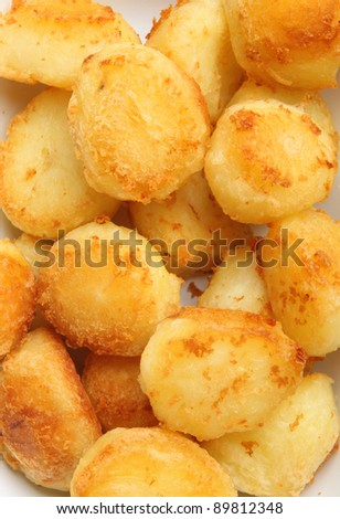 Crunchy golden roast potatoes ready for Sunday lunch.