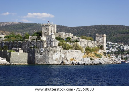 Crusader castle of Bodrum in Turkey