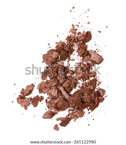 Crushed brown eye shadow isolated on white background #265122980