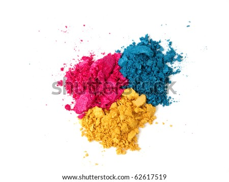 Crushed colorful make-up