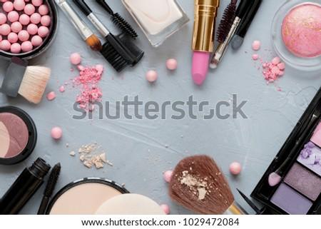 Crushed decorative cosmetics #1029472084