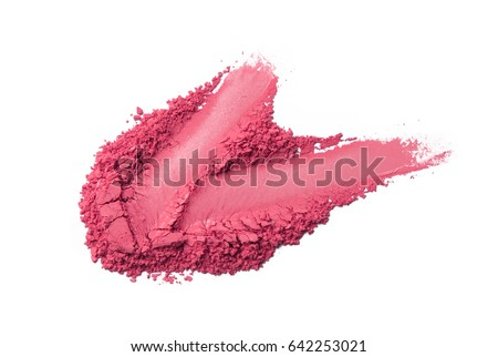 Crushed eyeshadow isolated on white #642253021