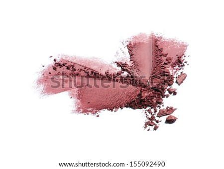 crushed eyeshadow isolated on white background  #155092490