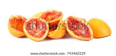 crushed orange on white background #743460229