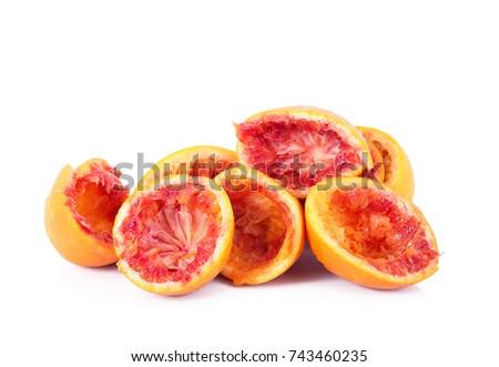 crushed orange on white background #743460235