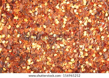 Crushed Red Pepper food texture or background