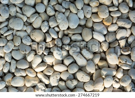 Crushed rock Different shapes,Small naturally white rock pebbles background