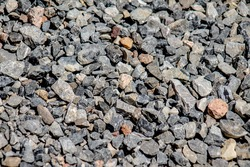 Crushed stone as a background
