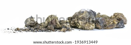 Crushed stones isolated on white background Stock foto ©