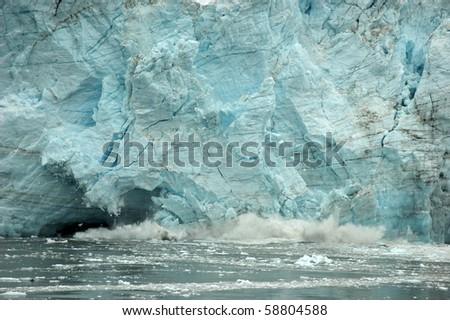 Crushing glacier in Alaska