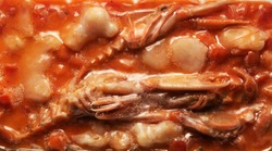 Crustaceans and molluscs frozen in the package.
