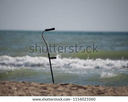 crutch on the seashore #1156021060