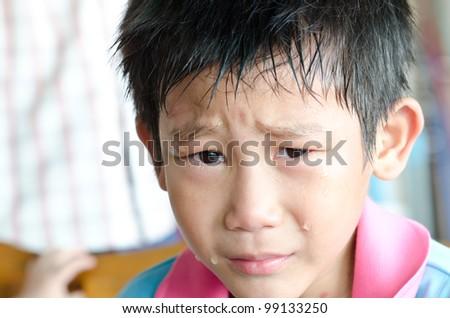 Crying Asian Boy