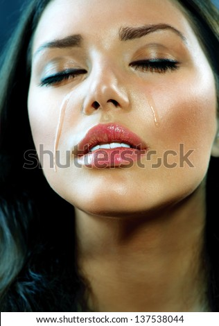 Crying Beauty Girl Beautiful Model Woman Cry Tears