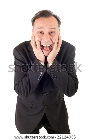 crying businessman, failure after very bad news