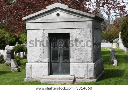 Crypt in Cemetery