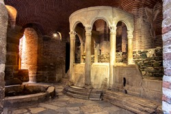 Crypt of Saint Demetrius under the cathedral of the city of Thessaloniki, Greece