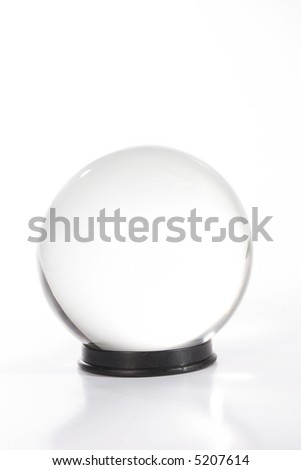 Crystal ball against white