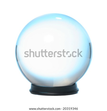 Crystal ball fringed with blue light