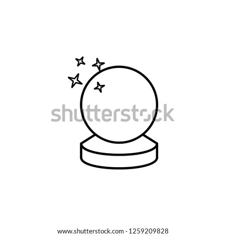 Crystal ball icon. Simple glyph illustration of Magic set icons for UI and UX, website or mobile application