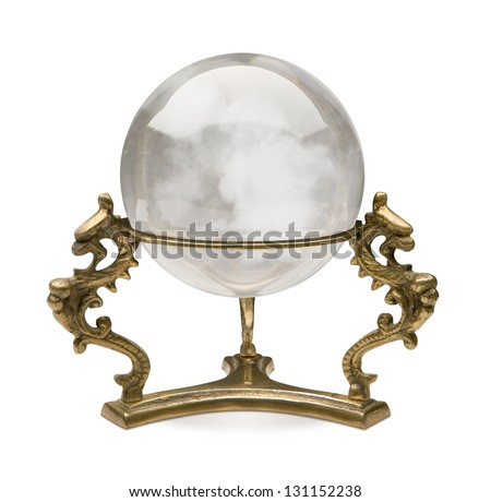 Crystal Ball isolated on a white background with a clipping path