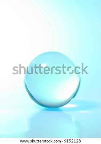Crystal ball  turguoise light