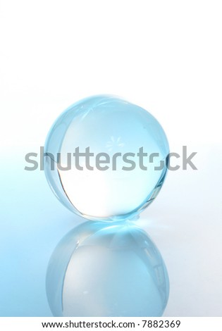 Crystal ball with reflection